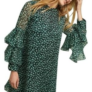 Anthro Ranna Gill Fluttered Tunic Bell Sleeve M